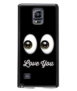 PrintVisa Designer Back Case Cover for Samsung Galaxy Note 4 :: Samsung Galaxy Note 4 N910G :: Samsung Galaxy Note 4 N910F N910K/N910L/N910S N910C N910Fd N910Fq N910H N910G N910U N910W8 (White Black Illustration Greeting Card Decoration Vector Concept )