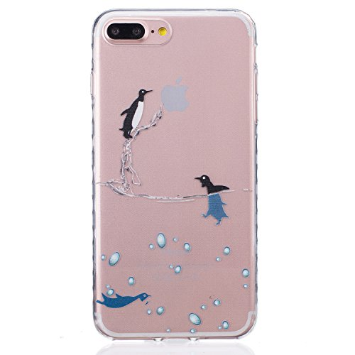 Sunroyal Hülle für iPhone 7 Plus (5.5 inches) Silicone Case Cover, Scratch-resistant Ultra Slim TPU Case Cover Soft Protective with Pattern Design Transparent Soft silicone Cover Pattern 01