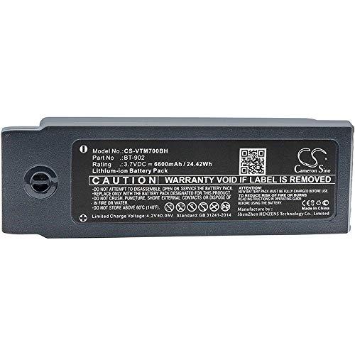 Ghpter-bar Barcode, Scanner-Batterie Li-Ion-Barcode-Scanner-Batterie des 6600mAh / 24.42Wh 3.7V kompatibel für Vocollect passt Modell A700 / A710 / A720 wiederaufladbare Zellen A710 Batterie