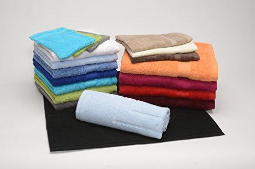 Vandenhove Linge De Maison Lot 2 Draps de bain couleurs mixées FIN DE SERIE 100% Coton Fabrication belge Haut de gamme (70X140) Couleurs selon Fabrication