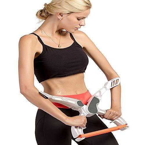WXH 2 STÜCKE Arm Workout Machine System, Mit 3 Krafttrainingsbändern, Hochwertiges Abs-Material, Für Frauen, Arme Bizeps Schultern Brust (Abs Machine Workout)