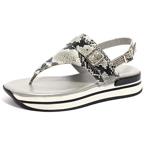 B1232 infradito donna HOGAN sandalo ciabatta scarpa ghiaccio nero shoes women nero/ghiaccio