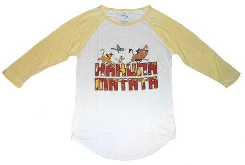 Junior Frauen Hakuna Matata Burnout Raglan T-Shirt (XS) (Burnout-raglan-t-shirt)