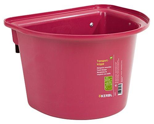 KERBL Mangeoire Amovible pour Cheval Rosé 12 L