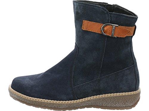 Waldläufer 533913-735-021 Hoja donna boots d'blau