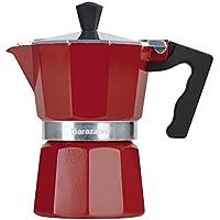 Barazzoni la cafetera de 3tazas, aluminio, rojo, 8.7x 15.1x 15.7cm