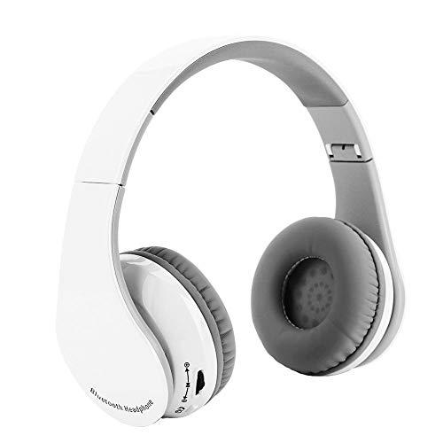 Zerone cuffie bluetooth pieghevoli ps4, cuffie da gioco stereo hifi ps4 cuffie da gioco bluetooth v4.1 senza fili cuffie con microfono(white)