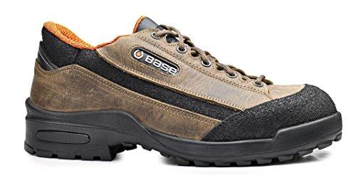 Base BO180 Jagger S3 SRC Mens Classic antidérapante lacets chaussure de sécurité Taupe / noir