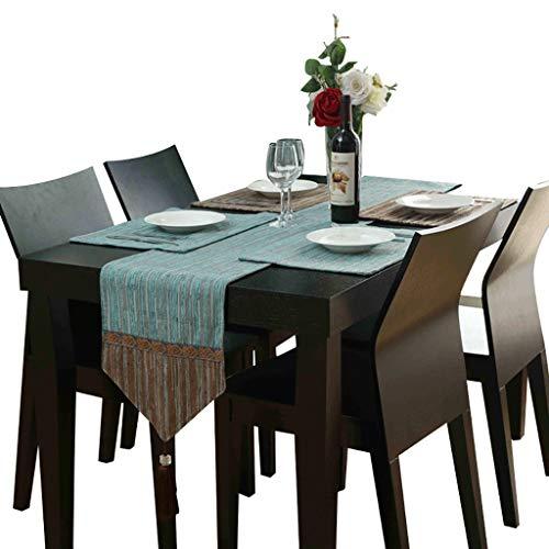 WYQ Tischläufer aus Baumwolle grün, Vintage Design Dekor Ideal, Tischläufer für Familienessen, Zusammenkünfte, Partys, täglicher Gebrauch (5 Größen verfügbar) Tischläufer