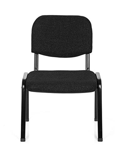 hjh OFFICE Konferenzstuhl Besucherstuhl XT 600 XL Stoff, extra breite Sitzfläche, ergonomischer Vierfußstuhl, Rückenlehne, stapelbar, bis 150 Kg (grau) -