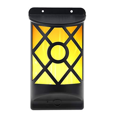 LINYU LEDs Solar Flickering Flames Wall Lights Outdoor Lighting,Wandleuchte für Schlafzimmer, Wohnzimmer, Korridor -Warmweißes Licht -