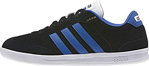 adidas Herren Cross Court Turnschuhe Schwarz / Blau / Weiß (Negbas / Blau / Ftwbla)
