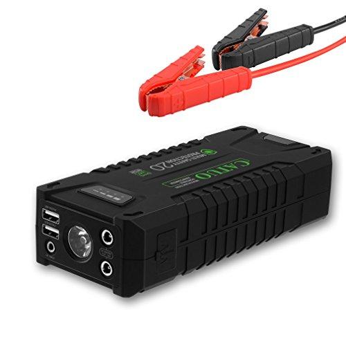 CATUO Tragbare Auto Starthilfe 1000A Spitzenstrom 20000mAh Autobatterie Auto Anlasser Jump Starter mit Eingebaute LED Taschenlampe für alle Benzin Fahrzeuge & bis 8,0L Diesel