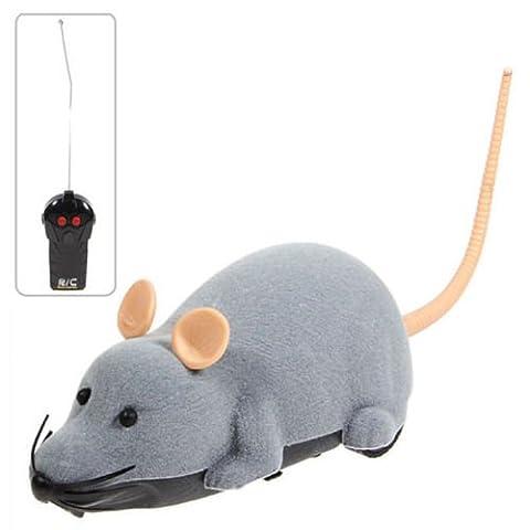 Elektronische Fernbedienung Entzückende Graue Maus Spielzeug für das Spielen mit Katzen Haustier