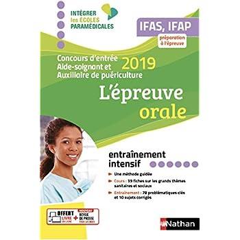 L'épreuve orale - Concours d'entrée aide-soignant et auxiliaire de puériculture - 2019