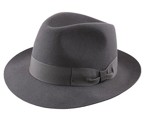 Classic Italy - Chapeau Fedora imperméable Feutre - 4 Coloris - Homme ou Femme Heritage Bogart
