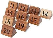 10 x tavolo in legno numero segni numeri 11 – 20 decorazioni ristorante legno