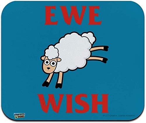 Ewe Wish You Fun Humour Bas Profil mince Tapis De Souris Mousepad