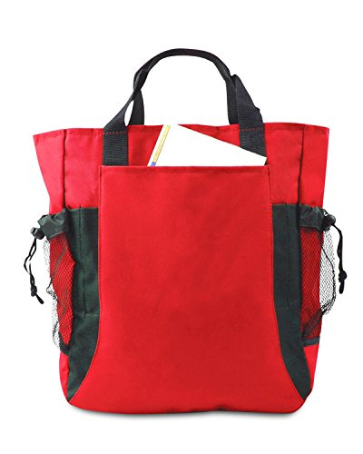 UltraClub by Liberty Bags, Borsa tote donna Red/ Black