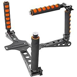 Neewer Kit de Tournage pour DSLR Rig Alliage d'Aluminium Pliable Montage d'Epaule Système de Soutien Rig Stabilisateur pour Caméra DV Vidéo tels Que Canon,Nikon,Sony (Orange)