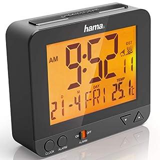 Hama Funk Wecker RC550 (sensorgesteuerte Nachtlichtfunktion, Schlummerfunktion, Temperatur- und Datumsanzeige) Digital schwarz (B00BVWJ5RU) | Amazon Products