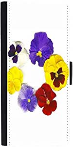 Snoogg A Circle Made Of Colorful Viola Tricolor Graphic Snap On Hard Back Lea...