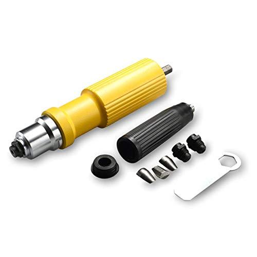 HoganeyVan Alloy Electric Rivet Nuts Pistolenkopf-Nietwerkzeug Cordless Riveting Drill Adapter Setzen Sie den Nietwerkzeug-Nietbohradapter ein -