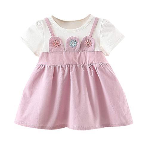 Mädchen-Kleinkind-Baby-Kind-Blumenblumen-Rock-Partei-Prinzessin Baumwolle kleidet beiläufige Kleidung Brautkleider Kinder festlich -