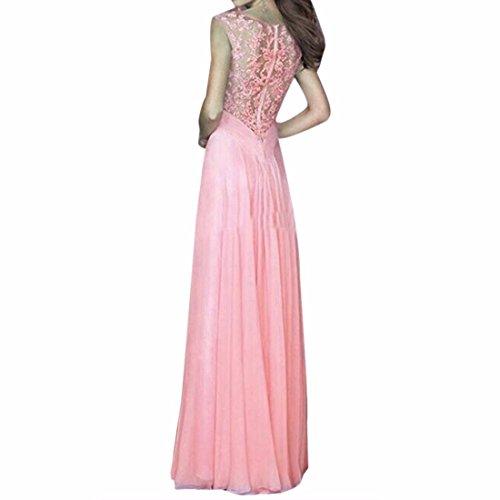 Qiyun–Robe pour femme Rose