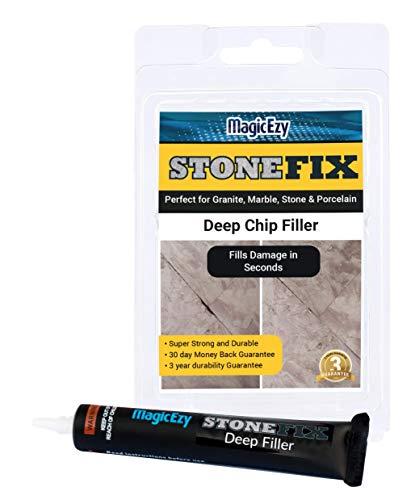 MagicEzy Stone Fix Deep Chip Filler: Reparieren Sie tiefe Strukturschäden: Granit und Marmor