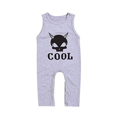 kind süß Halloween Kleinkind Baby Sleeveless Brief Print Spielanzug Neugeborenen Overall Kleidung ()