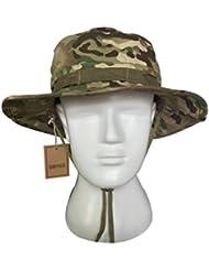 Tactical Boonie Hat, QMFIVE Sombrero redondeado de camuflaje Pescador Sun Protection Cap para Outdoor Climb Camping(CP)