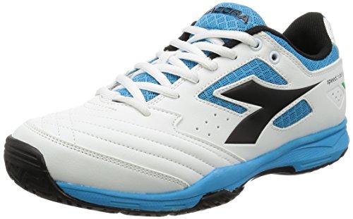 Diadora S.Challenge AG, Scarpe da Tennis Unisex-Adulto - weiß - blau - schwarz