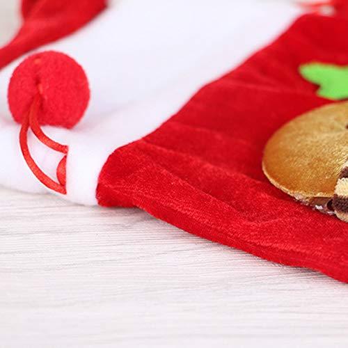 Jinxuny Weihnachten Candy Bag, Weihnachtsmann Schneemann Xmas Candy Bag samt Kordelzug Beutel Taschenformat (Style : Snowman)