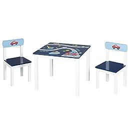 Roba Kinder Sitzgruppe Rennfahrer Kindermobel Set Aus 2 Kinderstuhlen 1 Tisch