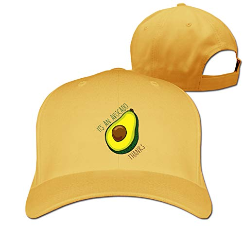 Osmykqe Its An Avocado Thanks Adjustable Baseball Cap Washed Cotton Plain Hat Fits Men Women - Womens Quilted Button