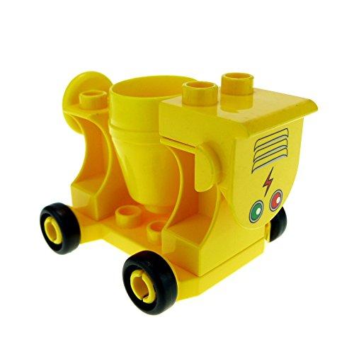 1-x-lego-duplo-zement-mischer-gelb-beton-mischen-baustelle-fur-set-4988-42092c01-42235-42234-42236pb