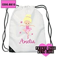 Personalised ballerina ballet kids bag / swimming bag / swim bag / gym bag / school bag choice of design