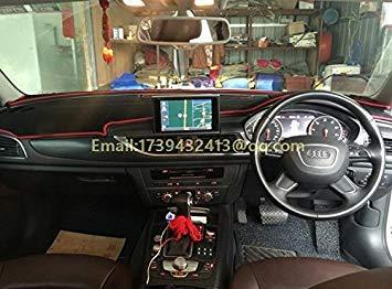 Zoomy Far: rossi: dashmats copertura accessori auto-styling cruscotto per audi a6 c7 S6 RS6 Avant berlina 2013 2014 2015 2016