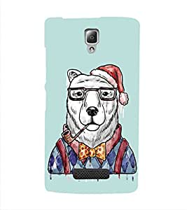 HiFi Designer Phone Back Case Cover Lenovo A2010 ( Snow Bear Smoking Pipe )