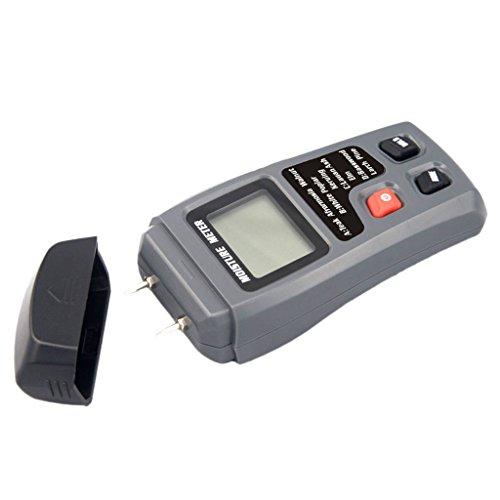 Baoblaze Feuchtmessgerät für das messen von Holz-Feuchtigkeit und Luftfeuchtigkeit mit LCD (Bereich 0–99,9%)