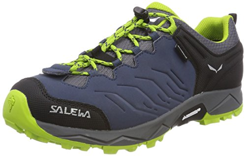 Salewa Unisex-Kinder JR MTN Trainer WP Trekking-& Wanderhalbschuhe, Blau (Dark Denim/Cactus 0361), 27 EU (Dark Denim Schuhe)