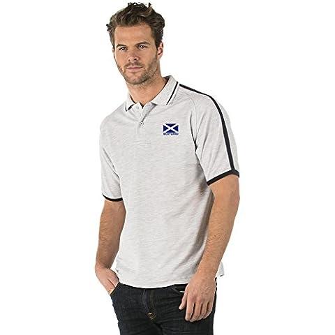 Escocia Bandera Club Polo Camisa - Scotland Flag Premium Club Piped Polo Shirt - XS to 3XL