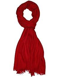 Lorenzo Cana Italian Scarf Pashmina 100% Cashmere Shawl 79'' x 27'' Red 7830511