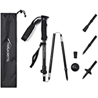 Trekrite Packaway Folding Collapsible Hiking/Walking Pole with Bag Included - Single or Pair UK Brand