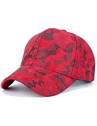 QinMM Gorra de Béisbol Camuflaje Hombre Mujer Sombrero Plano Hip Hop  Snapback 298e8f62d15
