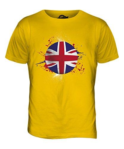 CandyMix Gran Bretagna Calcio T-Shirt da Uomo Maglietta Giallo Scuro
