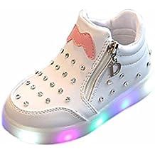 22b393421 LED Sandalias de Verano Xinantime Niños Niñas Zapatos Zapatillas Luminosas  con Luces LED de Cristal Claro