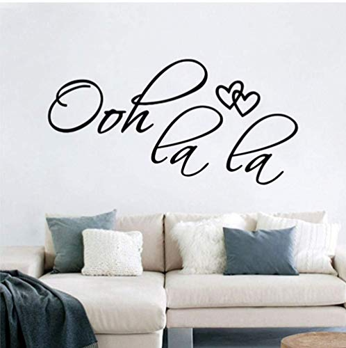 Art Font Wall Tattoo, Wohnzimmer Schlafzimmer Dekoration Abnehmbare Vinyl Wandtattoo Aufkleber 15X57 cm