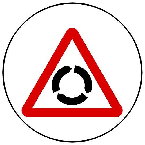 9 Stück Muffinaufleger Muffinfoto Aufleger Foto Bild Verkehrsschild Warnzeichen Kreisverkehr rund ca. 6 cm *NEU*OVP*